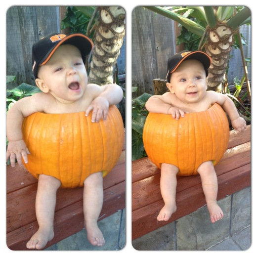 Our little pumpkin....Go Giants!!!