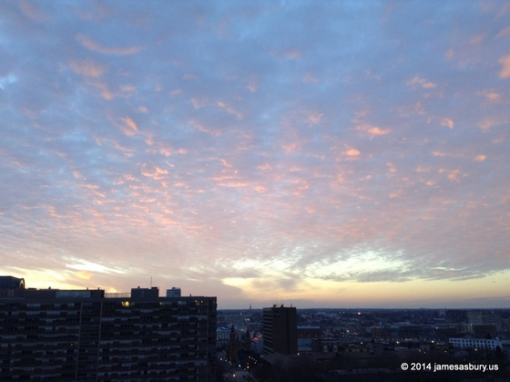 Christmas Sunset Over Milwaukee 2014