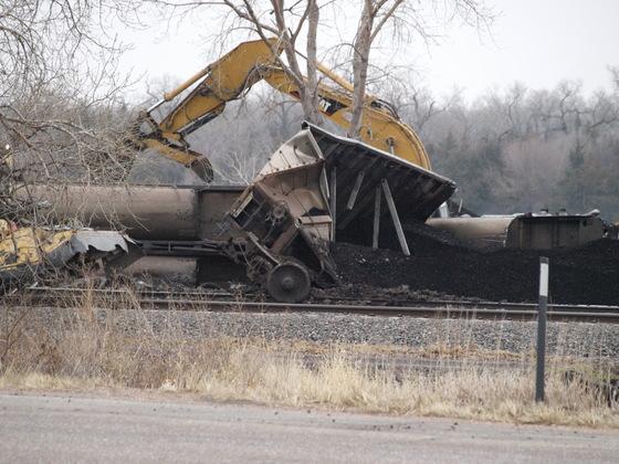 Union Pacific / MidAmerian Coal Train Derailment - west of North Bend, NE