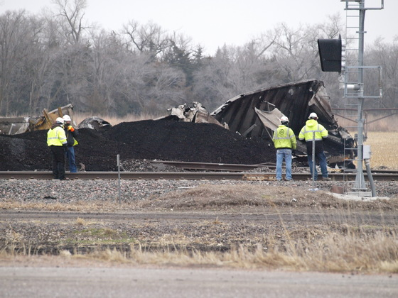 Union Pacific / MidAmerian Coal Train Derailment - west of North Bend, NE