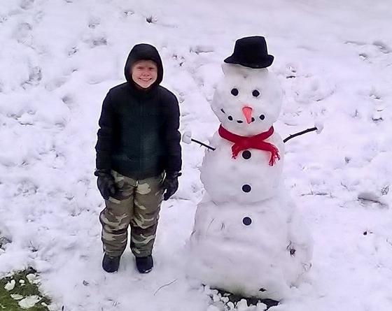 Saturday snowman 01/24/2015