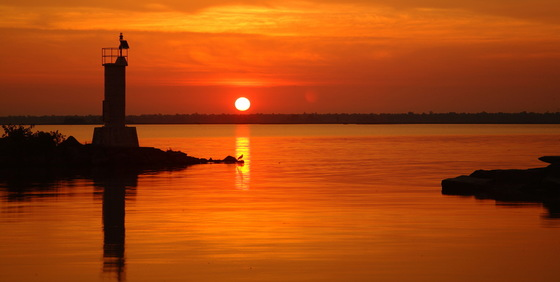 Erieau harbour sunrise