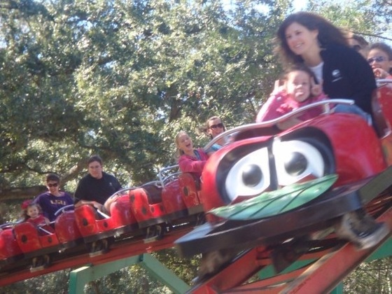 Ladybug Rollercoaster at City Park