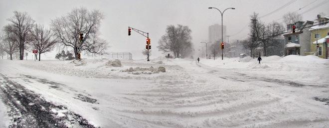 Snowstorm Halifax Cunard Street Halifax Ns