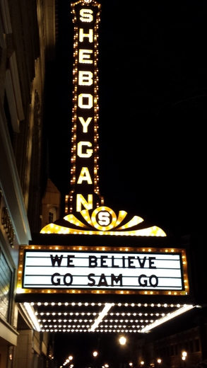Sheboygan supports Sam Dekker and Wisconsin Men's Basketball.