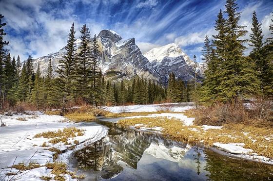 Mount Kidd winter clouds