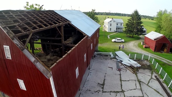 Fissel Farm: Aerial Views of Storm Damage