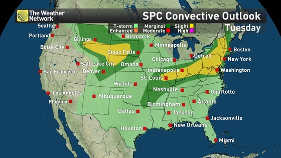 News - Showers, thunderstorms forecast for large portion of U.S. ...