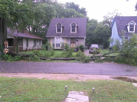 Tuesday storm damage