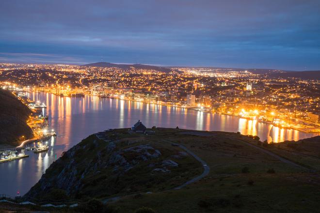 Colina sinal, São João, Newfoundland, e Labrador