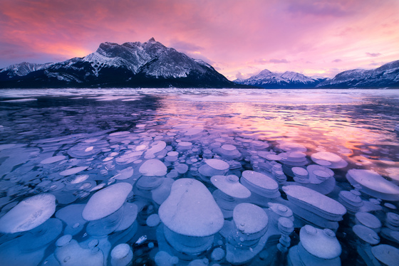 1c. Underneath a frozen lake