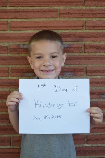 Nick's 1st day of Kindergarten