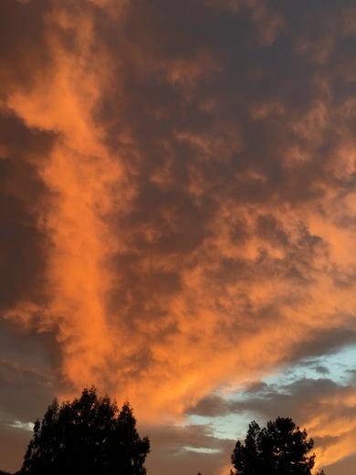Watsonville sky Tuesday sunset