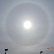 Un halo autour du soleil