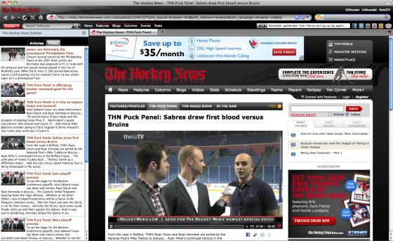 The Hockey News Launches Firefox Plugin