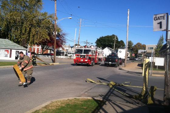 Kilm Fire at Brick Yard