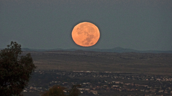Supermoon at Sunrise this morning.