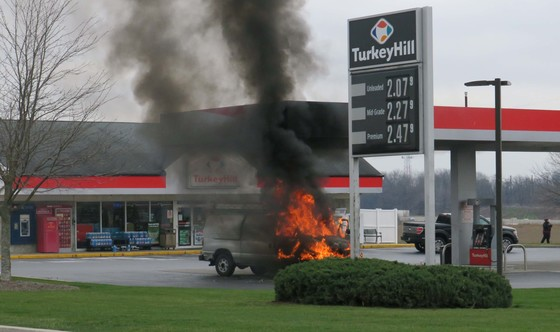Gasoline Fire at Turkey Hill, State Rd. Lancaster PA