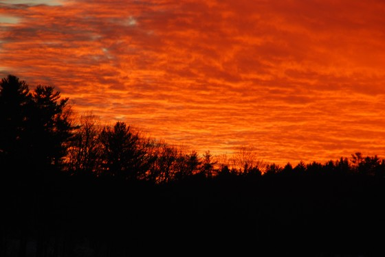 Sunset over Norway Lake
