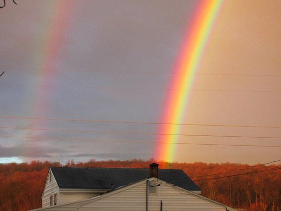 Double rainbow over Adamstown PA Sunday 1/10