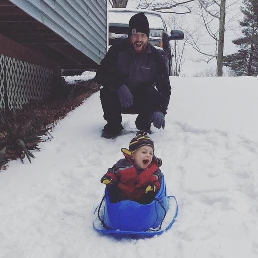 Winter photo! Sledding in NH