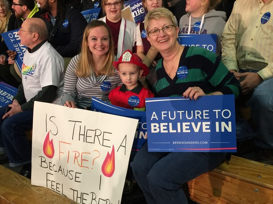Young Firefighter Feeling the Bern