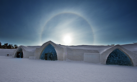Sundog over Ice Hotel