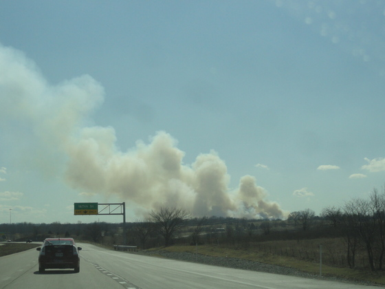 Grass Fire - 180th and Switzer