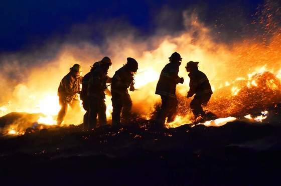 OZFD battles blaze