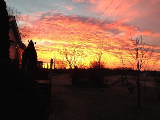 Sunrise in Chazy