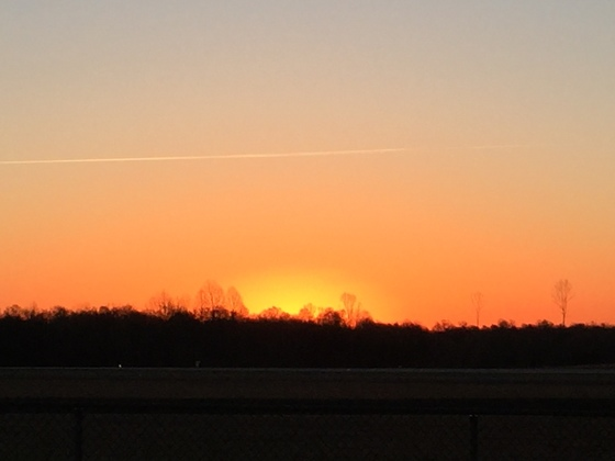 St Patrick's Day sunrise at Smith Reynolds Airport.
