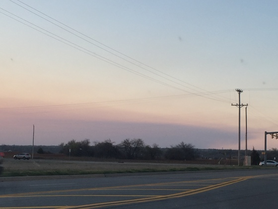 Anderson Creek Fire Smoke View Near Mustang