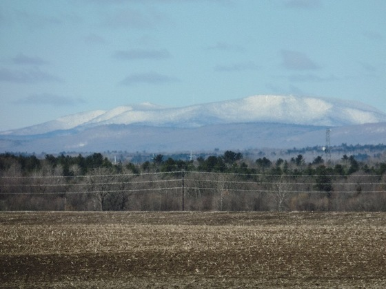 Spring snow on the mountain photo taken by Betty from Mooers ny