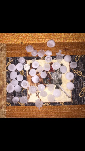 Quarter size hail