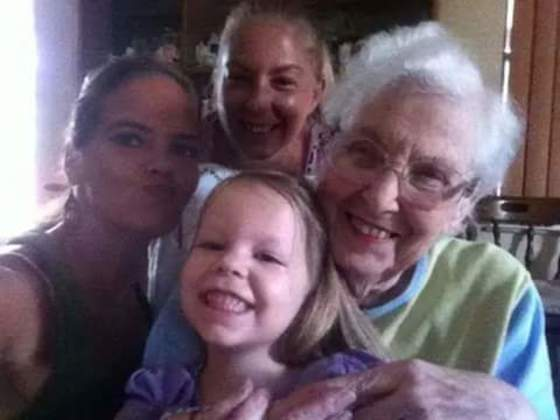 Mother's Day! My grandmother, my mother, myself, and my daughter