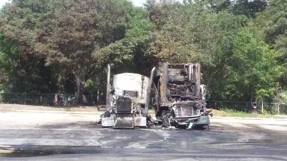 Truck fire in Wildwood