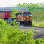 BNSF resting on a siding