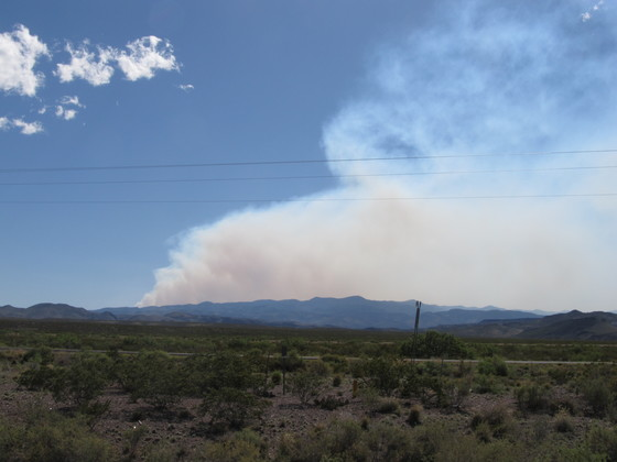 Smoke from Fire near Magdelena area