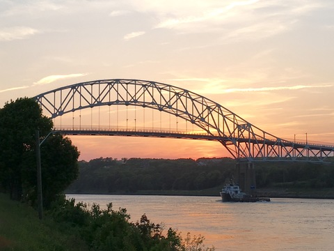 Sunset at Cape Cod Canal