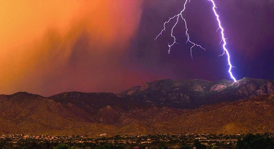 Amazing Lightening hitting the Sandias