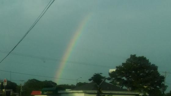 Rainbow over West Jackson