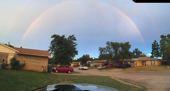 """Double rainbow in Edmond"""""""
