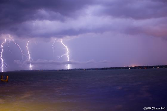 Lightning over Solomons Point