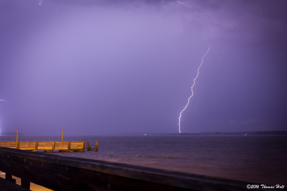 Lightning over Solomons Point