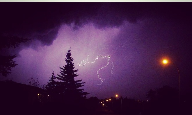 Lightning still shots Cold Lake, AB