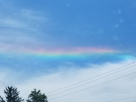 Mystery rainbow. Never saw this before?
