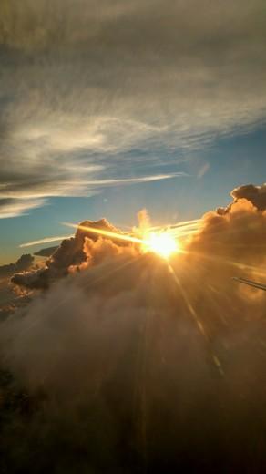 Sunday sunrise from 3000 ft