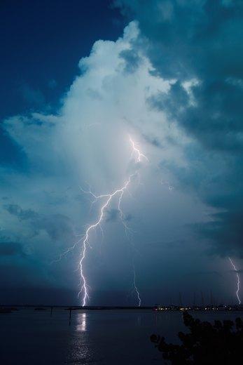 Lightning over Fort Pierce Marina