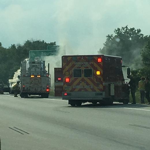 Car fire today on I94 & Calhoun