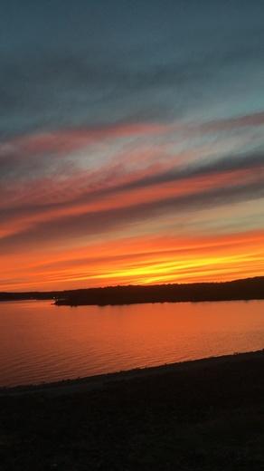 Sunset at Clinton Lake